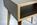 Beistelltisch Nachttisch Kante Farbig Beine Eiche Masivholz